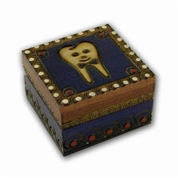 Wooden Tooth Box - Boy With Bow Tie
