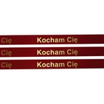 'Kocham Cie' Ribbon: Red with Metallic Gold