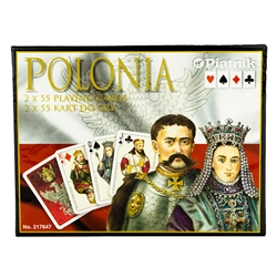 A two deck set of historic cards featuring Polish kings and queens. Made in Austria by Piatnik, the finest card maker in the world. This Viennese playing card manufacturer is a family company with a long tradition.