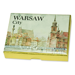 A two deck set of playing cards featuring scenes from Warsaw's Historic Old Town.
