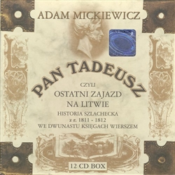 Pan Tadeusz, Audio Book, Polish language, 12 Compact Disc Set