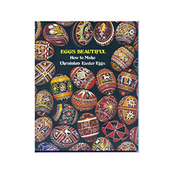"A great source of information on designs, legends and tradition. Twelve color pages of beautifully decorated eggs. Special ""Trypillian"" designs included."