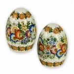 Opole Hand Painted Porcelain Salt and Pepper Shakers