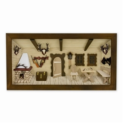 Polish Hunting Lodge Shadow Box - Diorama
