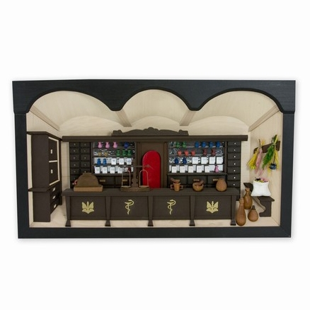 Polish Apteka - Pharmacy Shadow Box - Diorama