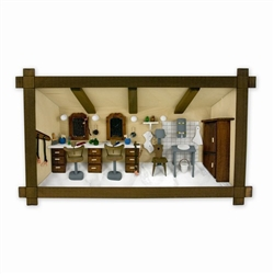 Polish Beauty Salon Shadow Box