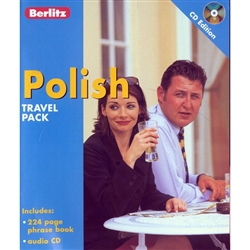 Berlitz Polish Travel Pack includes a 224 page phrase book and an audio CD. Learners are provided with 1,200 written words and phrases, easy-to-understand pronunciation, a dictionary, emergency expressions, and color-coded