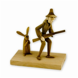 Folk Art Figurine #1 - Shh! Don't Look Now!
