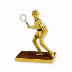 Folk Art Figurine #4 - Tennis Anyone?