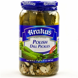 Polish dill pickles are the perfect condiment. Hand packed.