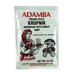 Adamba Polish Style Krupnik Mushroom Soup is easy to make.  Instructions in Polish and English.