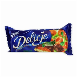 Delicje is the Polish word for delicious and they are certainly that!  This delicious treat is a soft biscuit topped with apricot jelly and dipped in chocolate - Superb!