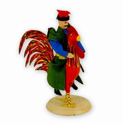 Pan Twardowski Riding A Rooster