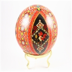 This highly detailed pysanky is the work of local Detroit Ukrainian artist Roman Seniuk.