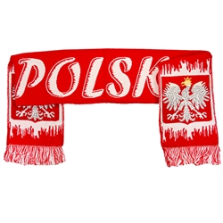 Red and White Poland Scarf - Ice