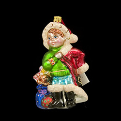 2004 Christopher Radko Foundation For Children Charity Ornament It all began with a family; in 1984, Christopher Radko and his family decorated the tree as always, with a treasured collection of over 2,000 mouth-blown, European glass ornaments.