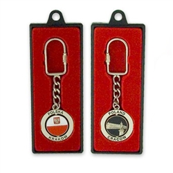 Polish Metal Swivel Keychain - Polska - Krakow - Poland - Cracow
