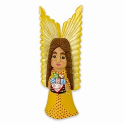 Large Angel With Basket Of Easter Eggs