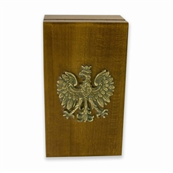 Polish Box with a Brass Eagle Emblem