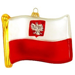 Graceful waves of brilliant white and red represent our glass replica of the Polish flag. In 1919 after Poland had regained her independence, the bold stripes of white and red were recognized as the official state colors. The Polish Flag with the eagle,