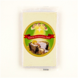 Perfect for mailing with Christmas Cards. A Polish tradition! Hermetically sealed pack of 5 embossed white wafers.