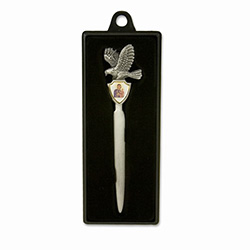 Polish Eagle Letter Opener with Our Lady of Czestochowa Crest