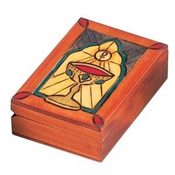 This beautiful box is made of seasoned Linden wood, from the Tatra Mountain region of Poland.