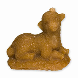 This beeswax candle is hand made by the residents of Dom Teczowy, a home for the mentally impaired located in Sopot, Poland. Your purchase helps to support the Dom Teczowy Foundation that provides the care for the residents.  The lamb is symbolic of the r