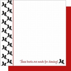 Polish Scrapbook Paper - Dancing Boots Boarder Layout Pack