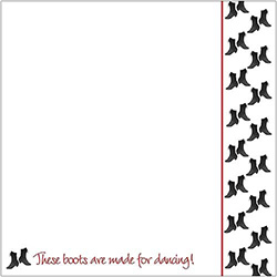 Polish Scrapbook Paper - Dancing Boots Boarder