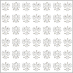 Polish Scrapbook Paper - Eagle on White Scrapbook