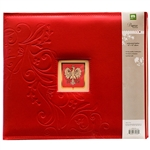 Polish Scrapbook Paper - Polish Scrapbook Faux Leather Binder with Polish Eagle Insert