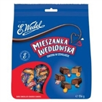 Delicious one-pound assortment of Polish chocolate-covered candies, including such favorites as: Figiel, Bajeczny, Paryski, Toffik, Pierrot, Wenecki, Wiedenski, Kawus, Irys and Tarragona.  All made by the world famous candy maker E. Wedel.