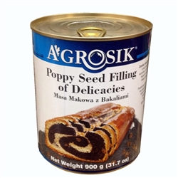 This product is ready made filling prepared according to the traditional Polish recipe for making poppy-seed cakes, pastries and desserts. It must be refrigerated after opening. Labeling in Polish, English and French. Product of Poland