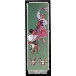 Bookmark - The Mountaineers' Costume is painted on canvas with the edges tastefully fringed.