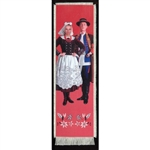 Bookmark - Rzeszow Folk Dancer Bookmark on Canvas is painted on canvas with the edges tastefully fringed.
