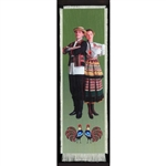 Bookmark - Lublin Folk Dancer Bookmark on Canvas is painted on canvas with the edges tastefully fringed.