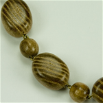 Polish Artistic Hazelnut Wood Necklace