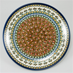 "Stoneware 10.5"" Dinner Plate Signature Series Pattern: U79 Designed And Signed By Teresa Liana"