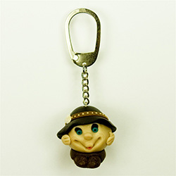 The Happy Mountaineer Key Chain