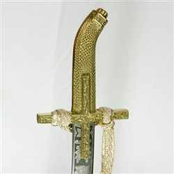 Beautiful hand made replica of a Polish-Hungarian style sabre engraved with the profile of Stefan Batory, his Latin name and the date of his accession to the Polish throne - Stephanus - Batori - Rex - Poloniae - AD - 1575