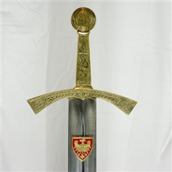 Beautiful handmade replica of the Polish Coronation Sword. Originally the property of prince Boleslaus (perhaps Boleslaus Konradowic or Boleslaus the Pious) as the inscription on the hilt (no longer visible) indicated