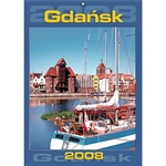 Gdansk - Kalendarze Domowe - Home Calendar 2008.  14 Beautiful full color photographs of the city of Gdansk, including festivals, architecture, churches and street scenes. European layout - Monday is the first day of the week, includes all Polish holidays