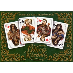 "Made in Krakow by Poland's finest card maker - Trefl.  This two deck set is commemorating the ""Victory at Vienna"", in which King Jan III Sobieski was victorious over the Turks in 1683."