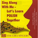 This Audio CD teaches basic Polish phrases, such as greetings, family terms (mommy, daddy, sister, uncle, etc.), popular songs (Sto lat, Today is my birthday, etc.), prayers, alphabet, numbers, days of the week, months, verbs, and other important building