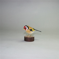Hand Painted Bird - Szczygiel - Goldfinch