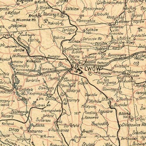 Polish Art Center 1908 Map Of Galicya Galicia Galicja