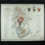 1836 Historical Plan Of The City Of Krakow - Plan Miasta Krakowa