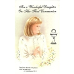 First Communion Card - Daughter