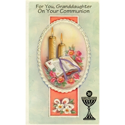 First Communion Card - Granddaughter